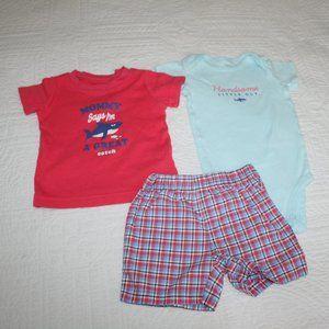 Baby boy shorts onesie t-shirt set 9 months